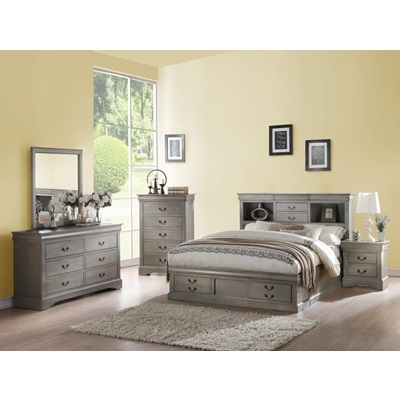 24357EK GRAY LOUIS PHILIPPE III EK BED