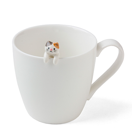 Cat Hanging Spoon - White