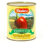Pimientos, Unpeeled/Diced - 28 oz