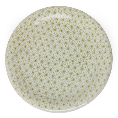 "Asanoha Colors 10"" Plate - Green"