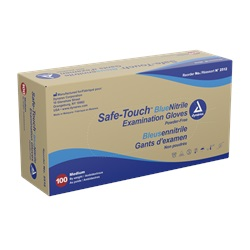 Latex-Free Nitrile - Safe-Touch Blue, Medium