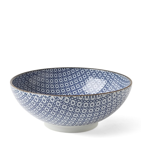 "Blue & White Mosaic 8.25"" Bowl"