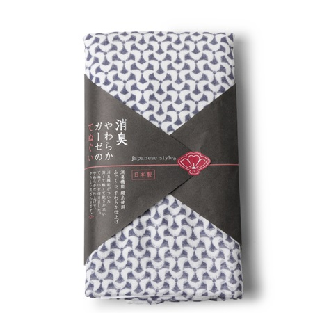 Towel Navy Pattern