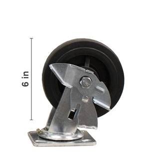 6 inch Swivel With Side Locking Brake