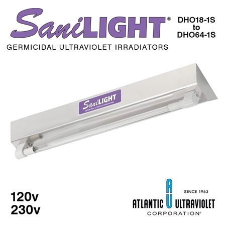 SaniLIGHT 1-Lamp HO UV Air and Surface Fixtures