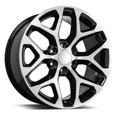 OE Replica 582 Series 24x10 6x139.7 - Gloss Black/Machined Face