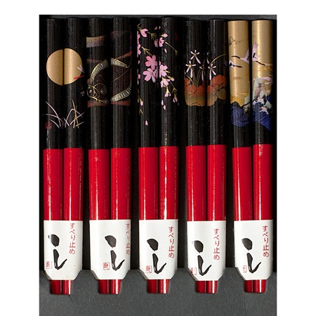 Night Scenes Red Chopsticks Set