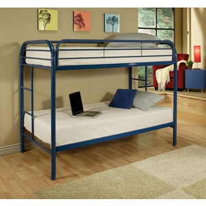 02188BU BLUE TWIN/TWIN BUNK BED