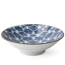 "Aizome Hishi 9.75"" Serving Bowl"