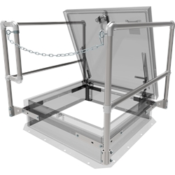 "36"" x 36"" Front Chain Safety Railing"