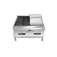 Comstock FHP24-12-1RB Char-Broiler/Griddle