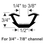 "Flexible U-Channel - 96"" Strip"