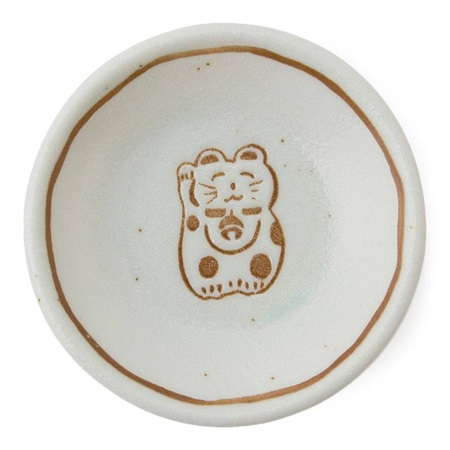 "Fortune Cat 3"" Sauce Dish"