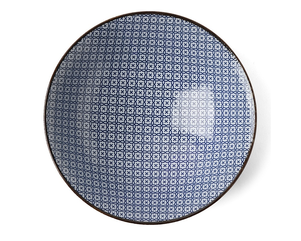 "Blue & White Mosaic 9.75"" Bowl"