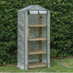 Premium 4-Tier Wooden Greenhouse