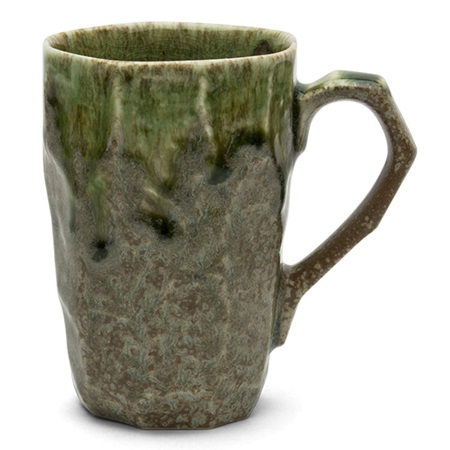 BOULDER TALL MUG - BROWN & GREEN