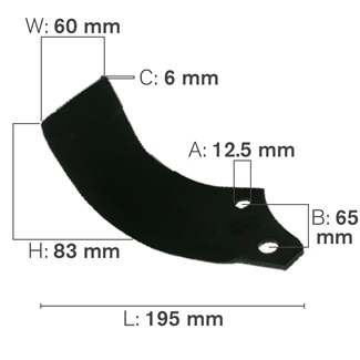 C Shaped Tillage Blade