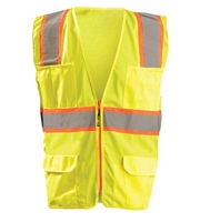 High Visibility Classic Solid Two-Tone Surveyor Safety Vest