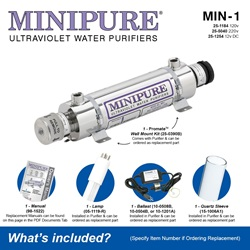 MINIPURE® MIN-1 What's Included