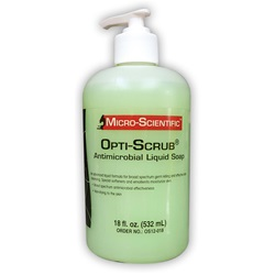 Antimicrobial Soap - Opti-Scrub, 18oz. Pump Bottle