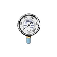 MTM Hydro 10,000 PSI Bottom Mount Pressure Gauge