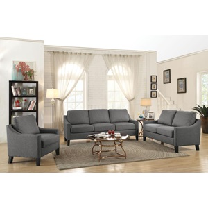 53756 GRAY FABRIC LOVESEAT