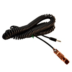 12 ft Coiled Test Lead with 27-C (40 Amp) Clip