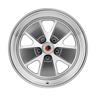 "17x8"" Legendary Styled Alloy Wheel, 5 on 4.5 BP, 4.75 BS, Charcoal/ Machined"