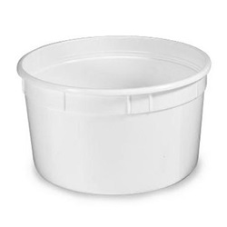 48 OZ WHITE PLASTIC TUB,
