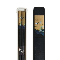 Cranes Chopsticks With Case - Black
