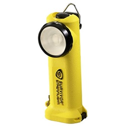 Streamlight Survivor Safety-Rated Firefighter's Right Angle Light, Alkaline Model - Yellow
