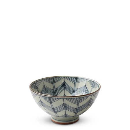 "Celadon Chevron 4.5"" Rice Bowl"