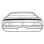 71-72 Mach 1 Trunk Stripe Kit Black