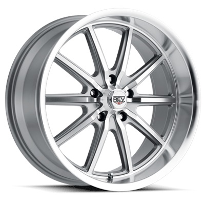 110 Classic Series 17x7 5x114.3 - Anthracite Center/Machined