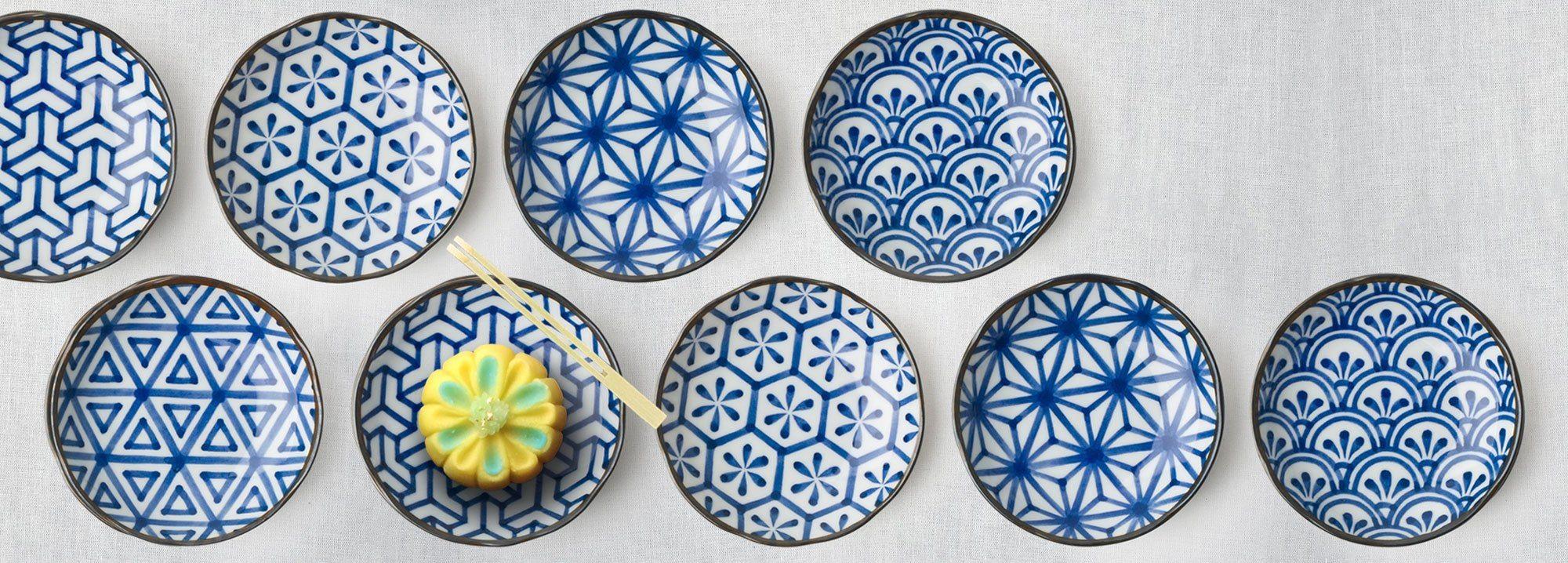 Miya Company - Monyou Blue & White Patterns