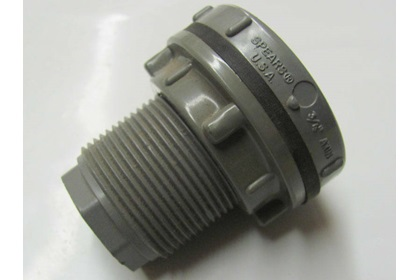 "3/4"" Bulkhead Tank Fitting - CPVC"