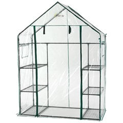 Deluxe Walk-In 3  Tier Portable Greenhouse