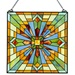 "18""H Mission Style Stained Glass Clouds in the Sky Window Panel"
