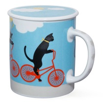 Cruiser Cat 8 Oz. Lidded Mug - Blue