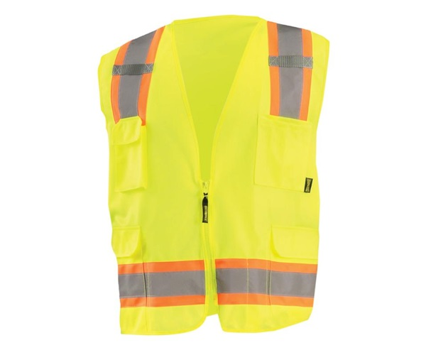 High Visibility Value Two-Tone Surveyor Solid Vest
