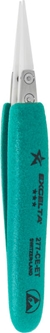 "Tweezer -*****- Straight Fine - 5.5"" Ceramic .04"""