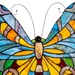 "20.5""H Stained Glass Swallowtail Butterfly Window Panel"