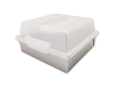 9 Inch Square Cake Pan and Lid