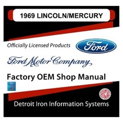 1969 Lincoln Factory Shop Manual, CD