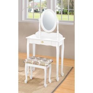 Acme Furniture 02337wh Wood Veneer Vanity Set
