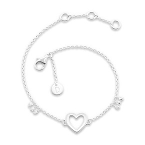 Daisy London Good Karma Bracelet, Open Heart