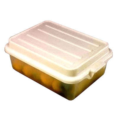 "Vollrath 1551-C13 Color-Mate Food Storage Box Combo Includes 5"" Drain"