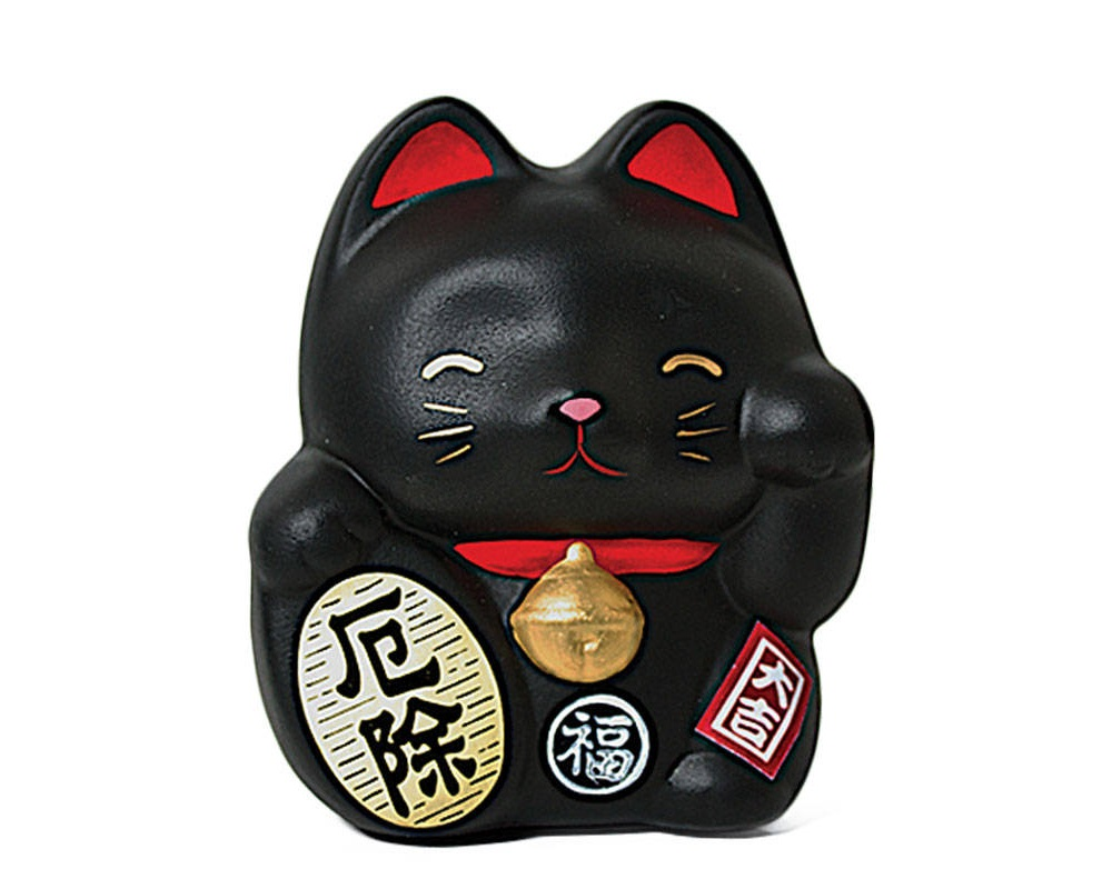 Feng Shui Fortune Cat Bank - Black