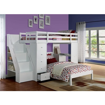 37145_KIT FREYA LOFT BED W/BOOKCASE LADD