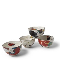 Floral Fall Rice Bowl Set